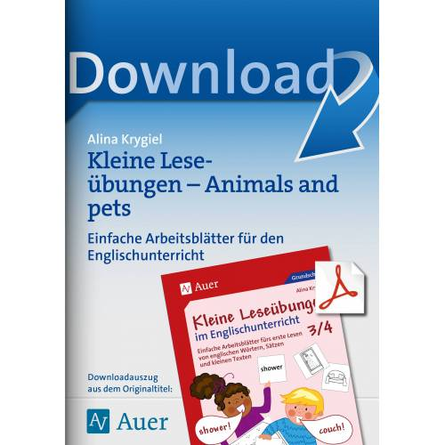 Auer Verlag Kleine Leseübungen - Animals and pets
