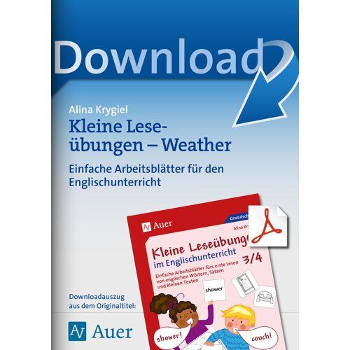 Auer Verlag Kleine Leseübungen - Weather