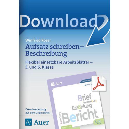 Auer Verlag Aufsatz schreiben - Beschreibung