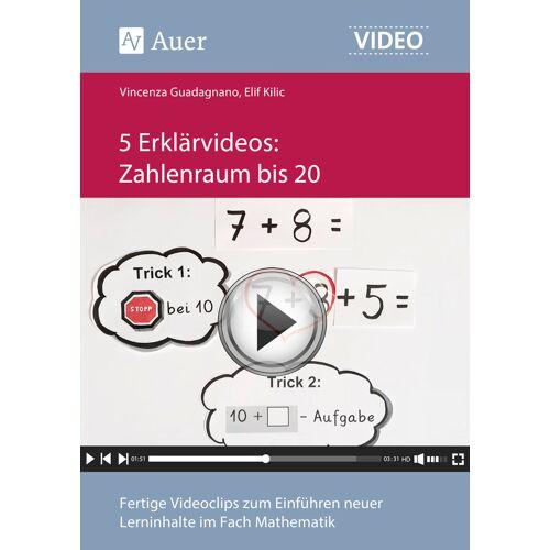 Auer Verlag 5 Erklärvideos Zahlenraum bis 20