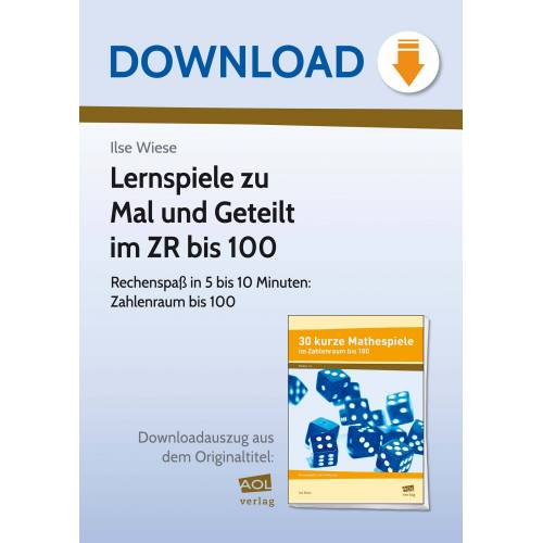 AOL-Verlag Lernspiele zu Mal und Geteilt im ZR bis 100