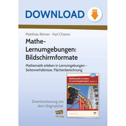 AOL-Verlag Mathe-Lernumgebungen: Bildschirmformate