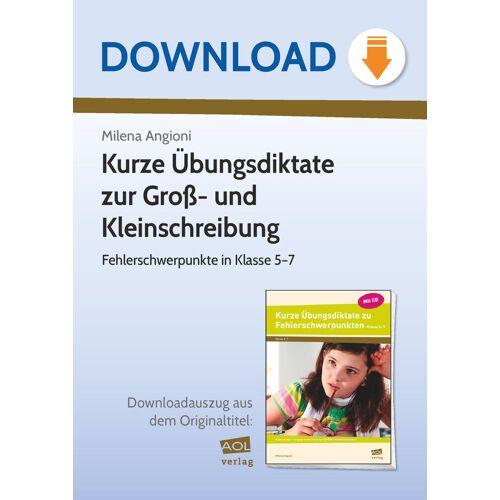 AOL-Verlag Kurze Übungsdiktate zur Groß- und Kleinschreibung