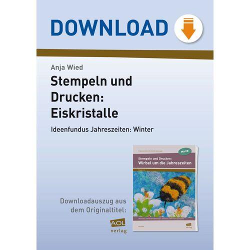 AOL-Verlag Stempeln und Drucken: Eiskristalle