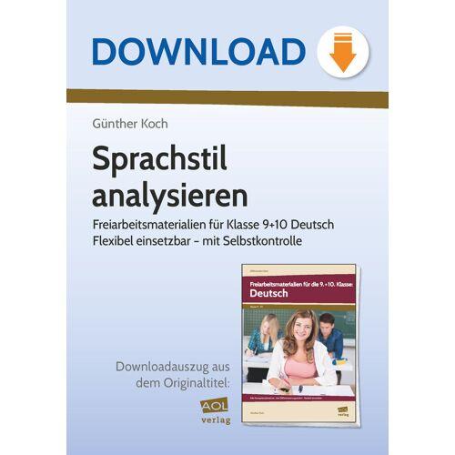 AOL-Verlag Sprachstil analysieren