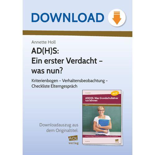 AOL-Verlag AD(H)S: Ein erster Verdacht - was nun?