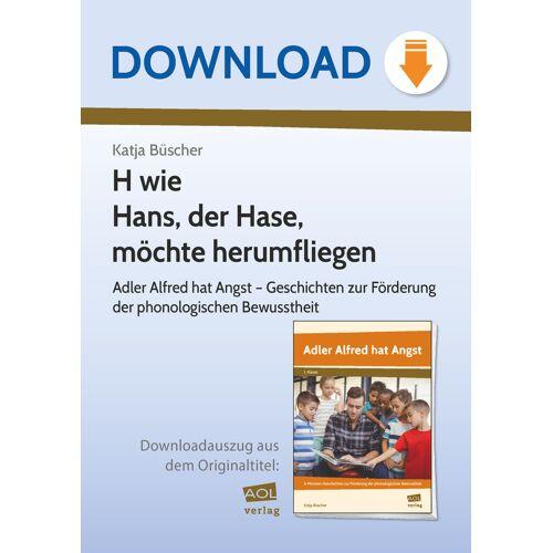 AOL-Verlag H wie Hans, der Hase, möchte herumfliegen