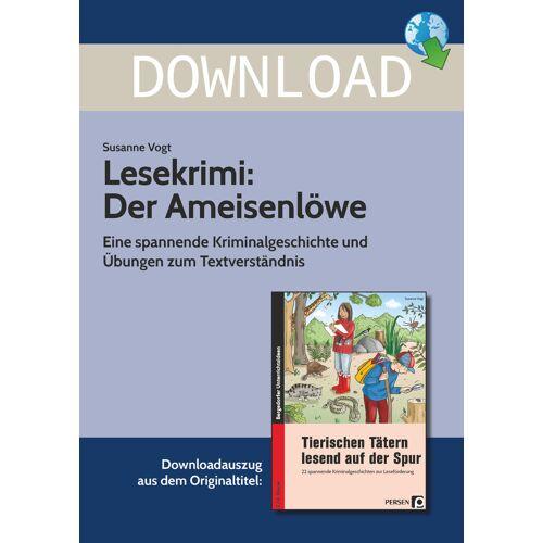 Persen Verlag Lesekrimi: Der Ameisenlöwe