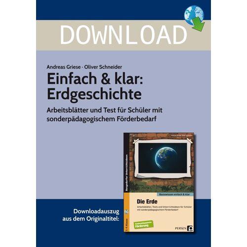 Persen Verlag Einfach & klar: Erdgeschichte