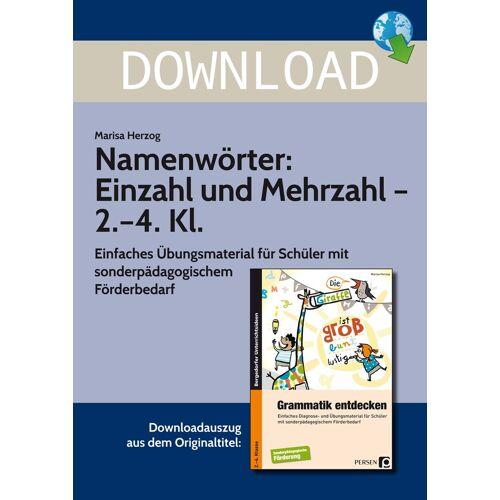 Persen Verlag Namenwörter: Einzahl und Mehrzahl - 2.-4. Kl.