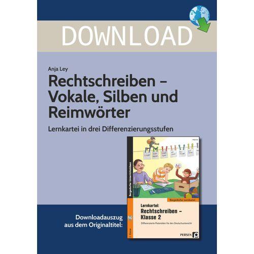 Persen Verlag Rechtschreiben -  Vokale, Silben und Reimwörter