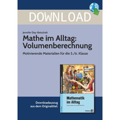 Persen Verlag Mathe im Alltag: Volumenberechnung
