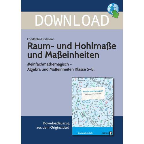 Persen Verlag Raum- und Hohlmaße und Maßeinheiten