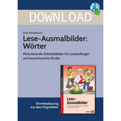 Persen Verlag Lese-Ausmalbilder: Wörter