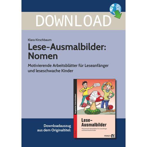 Persen Verlag Lese-Ausmalbilder: Nomen