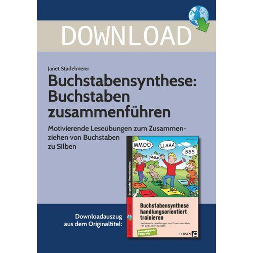 Persen Verlag Buchstabensynthese: Buchstaben zusammenziehen
