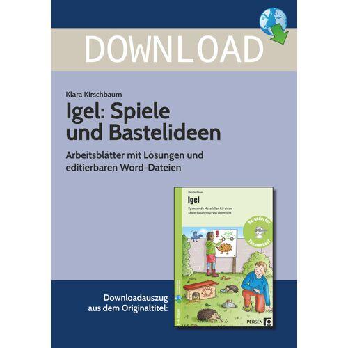 Persen Verlag Igel: Spiele und Bastelideen