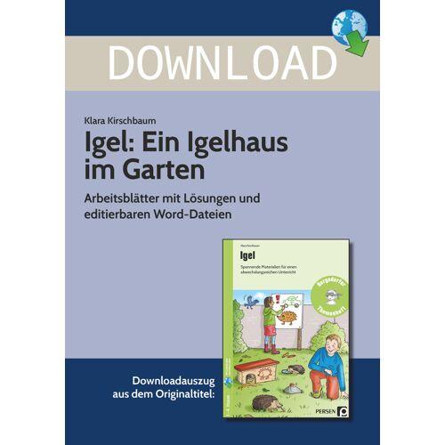 Persen Verlag Igel: Ein Igelhaus im Garten