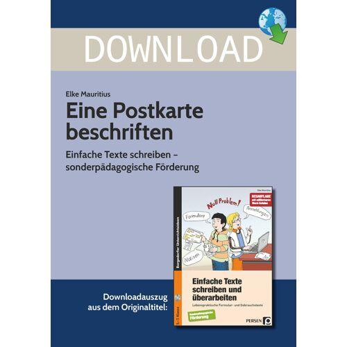 Persen Verlag Eine Postkarte beschriften