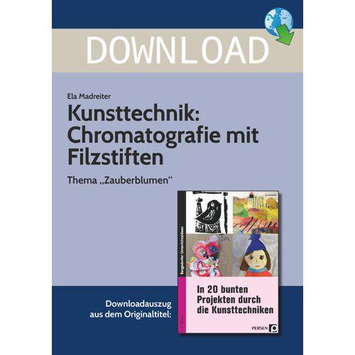 Persen Verlag Kunsttechnik: Chromatografie mit Filzstiften