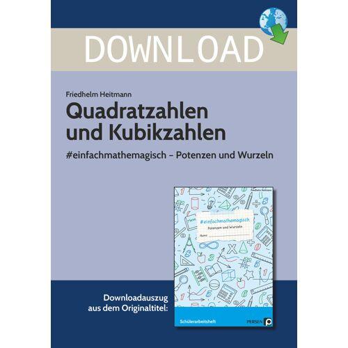 Persen Verlag Quadratzahlen und Kubikzahlen