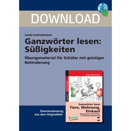 Persen Verlag Ganzwörter lesen: Süßigkeiten