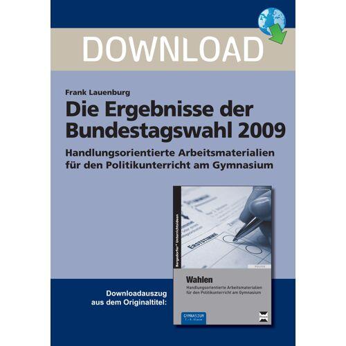 Persen Verlag Die Ergebnisse der Bundestagswahl 2009