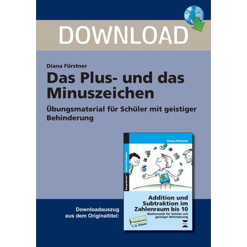 Persen Verlag Das Plus- und das  Minuszeichen