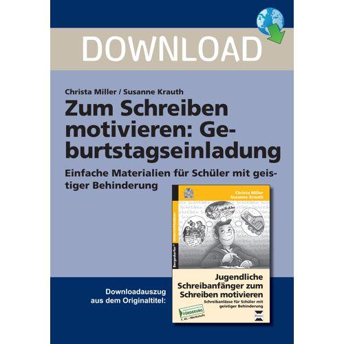Persen Verlag Zum Schreiben motivieren: Geburtstagseinladung