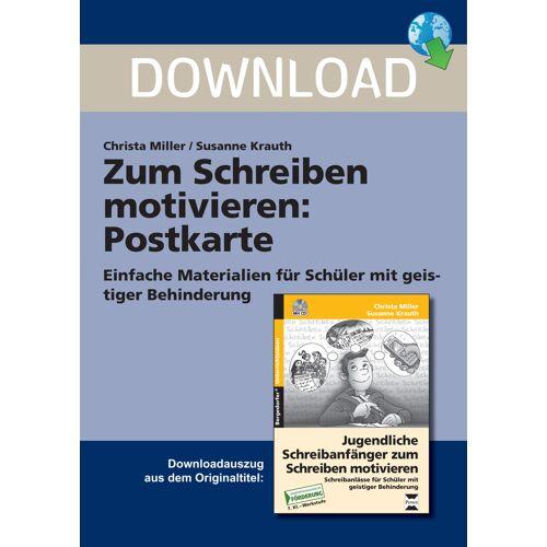 Persen Verlag Zum Schreiben motivieren: Postkarte
