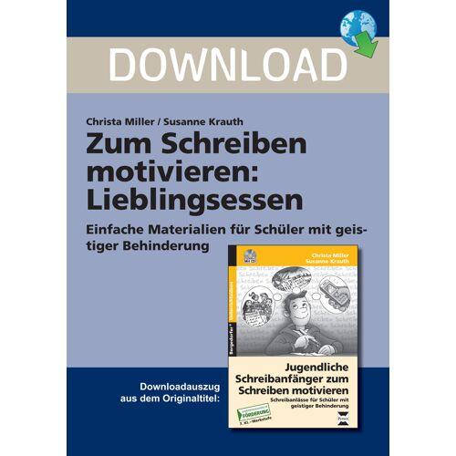 Persen Verlag Zum Schreiben motivieren:  Lieblingsessen