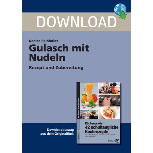 Persen Verlag Gulasch mt Nudeln