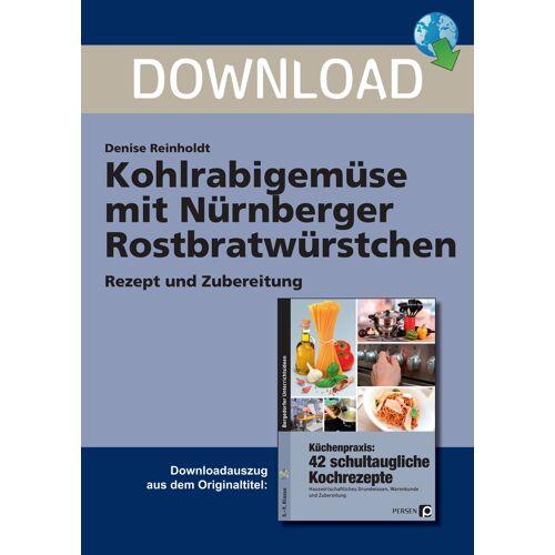 Persen Verlag Kohlrabigemüse mit Nürnberger Rostbratwürstchen