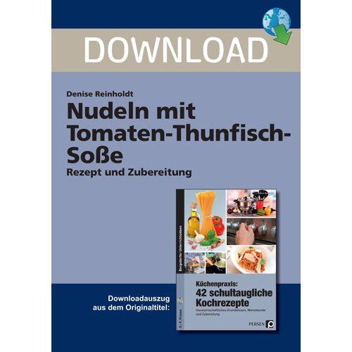 Persen Verlag Nudeln mit Tomaten-Thunfisch-Soße