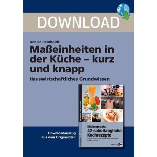 Persen Verlag Maßeinheiten in der Küche - kurz und knapp