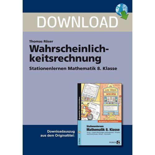 Persen Verlag Wahrscheinlichkeitsrechnung