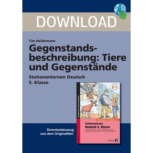 Persen Verlag Gegenstandsbeschreibung: Tiere und Gegenstände