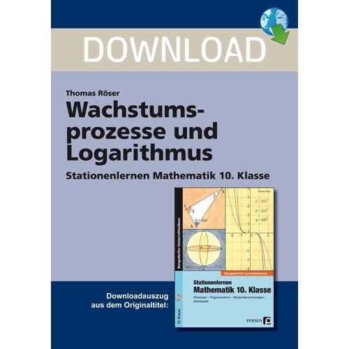 Persen Verlag Wachstumsprozesse und Logarithmus