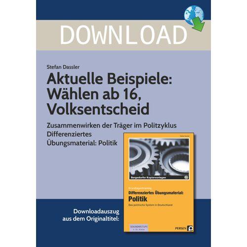 Persen Verlag Aktuelle Beispiele: Wählen ab 16, Volksentscheid