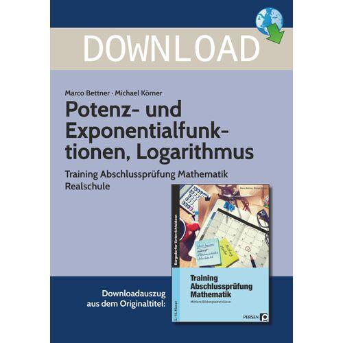 Persen Verlag Potenz- und Exponentialfunktionen, Logarithmus
