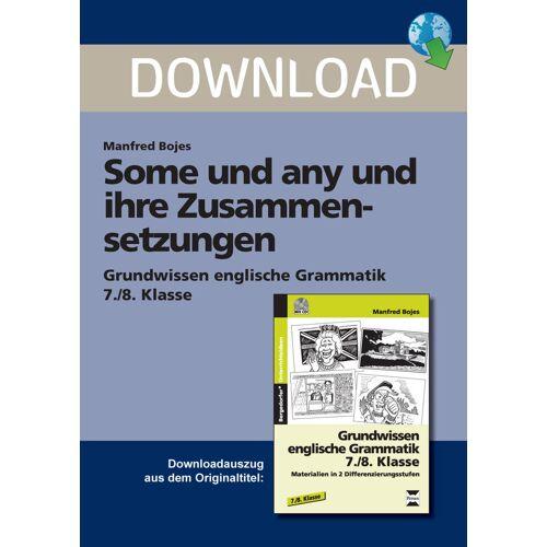 Persen Verlag Some und any und ihre Zusammensetzungen