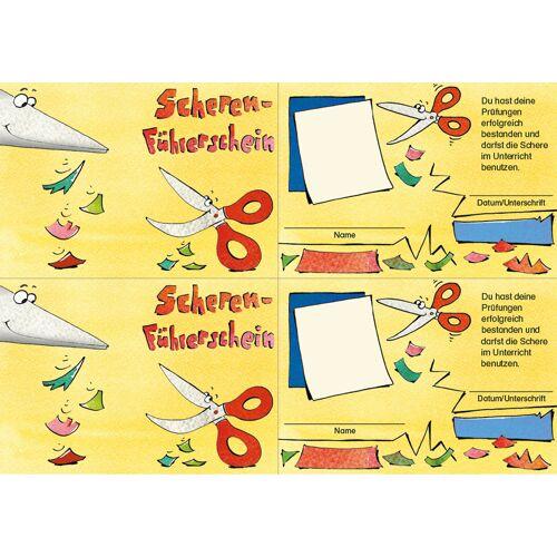 Persen Verlag Scheren-Führerschein - Klassensatz Führerscheine
