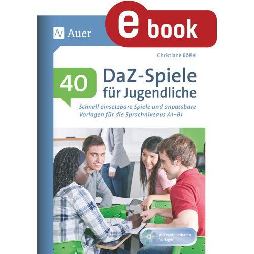 Auer Verlag 40 DaZ - Spiele für Jugendliche