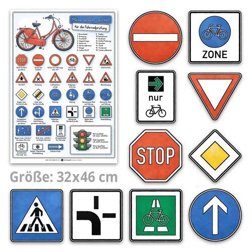 E&Z Verlag Meine Verkehrszeichen für die Fahrradprüfung- mit den neuen Verkehrszeichen