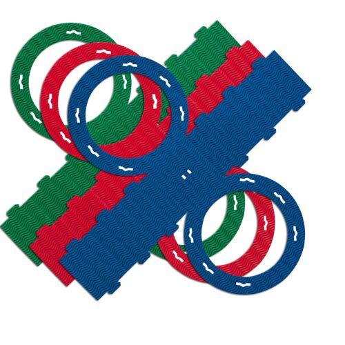 Persen Verlag Laternenrohlinge 3D-Welle, Ø 22 cm, 5 St. - bunt
