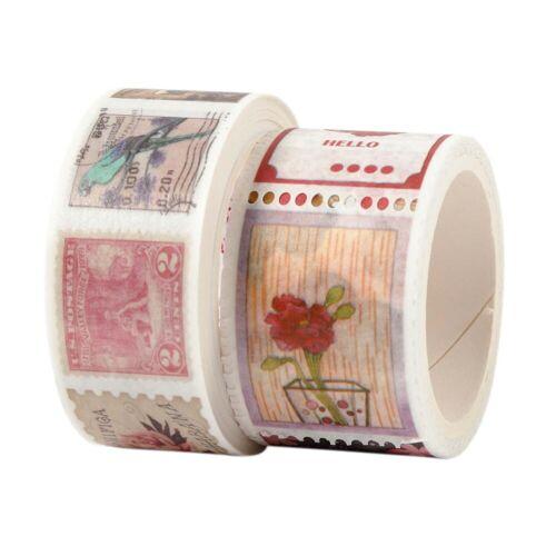 Persen Verlag 2 Rollen Washi Tape - Briefmarken