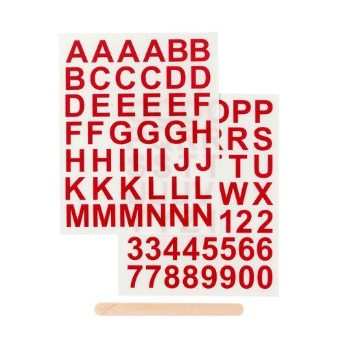 Persen Verlag Transfer-Sticker, ABC & Zahlen - rot