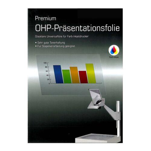Persen Verlag OHP-Folie A4, für Tintenstrahldrucker, 110 mic
