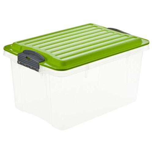 Persen Verlag Stapelbox mit Klickverschluss, 4,5 l - grün