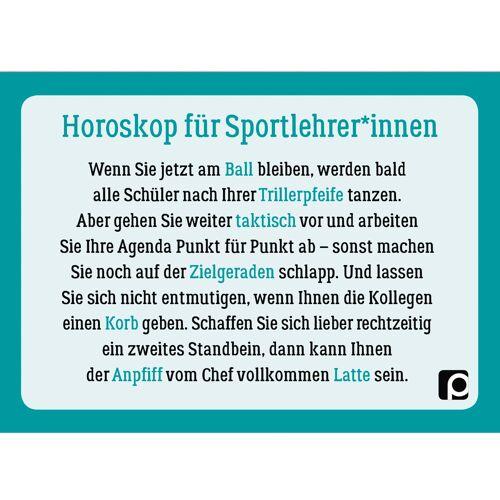 Persen Verlag Postkarte - Lehrer-Horoskop Sport